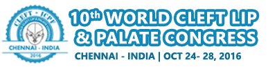Logo CLEFT 2016 ICPF | 10th World Cleft Lip & Palate Congress, Chennai, India